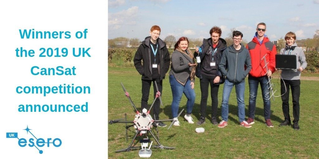 Winners of the 2019 UK CanSat Competition
